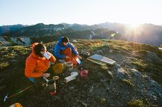 picnic on the mountain