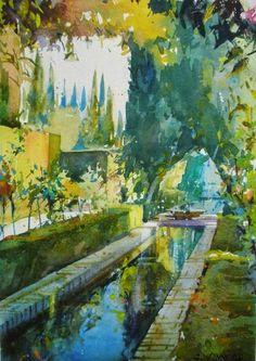 Geoffrey Wynne Acuarelas - Watercolours: GENERALIFE