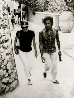 Jackie and Valentino in Capri