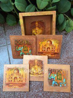 Indian theme coasters