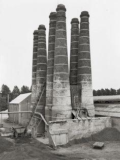 lime kilns, brielle, holland, 1968 • bernd & hilla becher