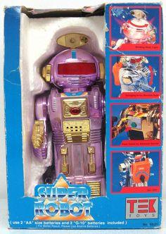 Vintage 1980's Tek Toys Pink Electronic Super Robot