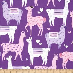 Michael+Miller+Packmates+Purple from @fabricdotcom  Designed+for+Michael+Miller,+this+cotton+print+is+perfect+for+quilting,+apparel+and+home+decor+accents.+Colors+include+white,+black+and+shades+of+purple+and+pink.+