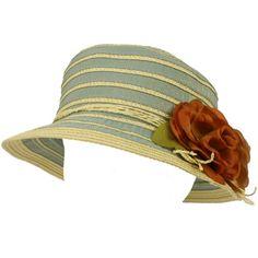 6e71dc4d77165 UPF 50+ Summer Floral Cloche Bell Bucket Packable Sun Hat Cap Shimmer Gold  Blue  21.95