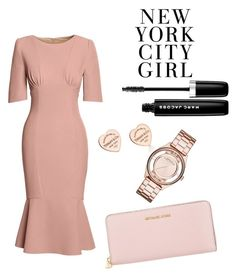 """""""New York City Fashion: Everything Pink"""" by triciawxm ❤ liked on Polyvore featuring Canvas by Lands' End, Tiffany & Co., H&M, Marc Jacobs, Marc by Marc Jacobs, Michael Kors, NewYorkCity, marcjacobs, rosegold and bodycon"""