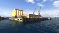 Recreation of Oslo Harbour as part of marketing media conference event.