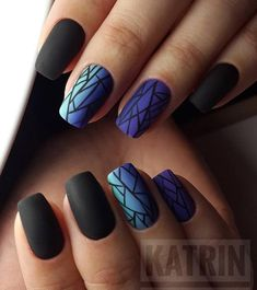 Image about style in Manicure by forever_s on We Heart It Shared by forever_s. Find images and videos about style, black and girls on We Heart It - the app to get lost in what you love. Airbrush Nails, Gothic Nails, Nagellack Design, Geometric Nail, Pretty Nail Art, Fire Nails, Nagel Gel, Best Acrylic Nails, Dream Nails