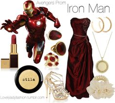 """Avengers Prom - Iron Man"" by nearlysamantha on Polyvore"