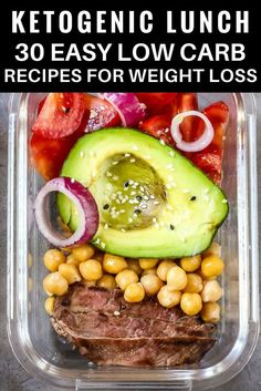 30 low carb keto lunch recipes perfect for work, home or on the go! If you're new to the ketogenic diet or if you are looking for delicious keto recipes to add to your weekly meal plan you'll love this collection of easy recipes! From easy crockpot keto recipes to vegetarian and dairy-free options-this meal plan has you covered! #keto #ketogenic #ketodiet #ketorecipes #ketogenicdiet #lowcarbrecipes #crockpot #fitness