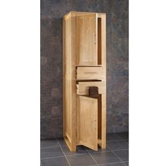 Cube Solid Oak Tall Two Drawer Two Door Freestanding Bathroom Storage Unit Freestanding Bathroom Storage, Bathroom Storage Units, Small Bathroom Organization, Tall Cabinet Storage, Oak Bathroom Cabinets, Bathroom Flooring, Creative Storage, Storage Ideas, Large Bathrooms