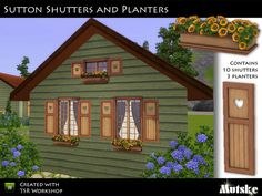 Sutton Shutters and Planters by Mutske  http://www.thesimsresource.com/downloads/1064629