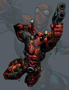 #Deadpool #Fan #Art. (Deadpool Spidey Fan art) By:BrianFajardo. ÅWESOMENESS!!!™ ÅÅÅ+