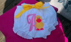 Monogram Duckie Boutique style diaper by Fancydancyboutique, $9.50