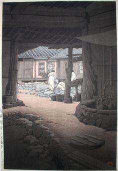 Hasui Kawase (川瀬 巴水 1883 – 1957) The Chunum Temple, Mt. Chiri, Korea (Chôsen Chiizan Sen'in-ji), from the series Views of Korea, Continued (Zoku Chôsen fûkei)