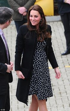 Busy schedule: The visit is the Duchess' second in as many days and is part of her work as...