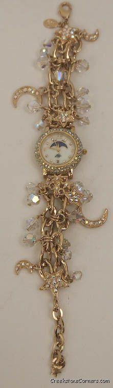 KIRKS FOLLY crystal moon dreamer watch ~ my first kirks folly watch, very sparkly :)