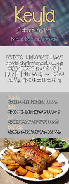 Keyla. Sans Serif Fonts. $15.00