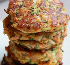 Carrot and Halloumi Patties