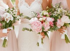 Pink Bouquets | photography by http://www.lisaodwyer.com/