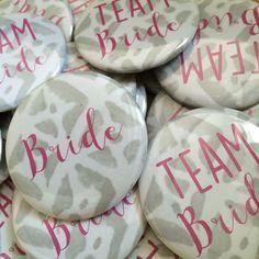 Team Bride- Bachelorette Pin Button Set- Bachelorette Party/Wedding Shower- Choose Color