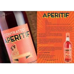 Contratto Aperitif 13.5%. Featuring in our Pisco sours kit this October