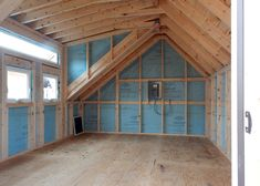 dachausbau Three Season Interior with Electrical Package A Refreshing Way To Avoid Diabetes? Small Prefab Cottages, Tiny Cabins, Attic Renovation, Attic Remodel, Ideas Terraza, Cottage Kits, Shed Dormer, Backyard Office, Prefabricated Houses