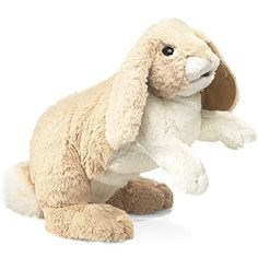 Folkmanis Floppy Bunny Rabbit Hand Puppet, 2015 Amazon Top Rated Hand Puppets #Toy