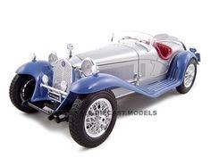 1932 Alfa Romeo 8C 2300 Silver 1/18 Diecast Model Car Bburago 12063