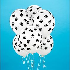 Paw patrol birthday balloons Paw print balloons by evescrafts Snoopy Birthday, Puppy Birthday Parties, Puppy Party, Dog Birthday, Birthday Party Themes, Birthday Ideas, Paw Patrol Party, Paw Patrol Birthday, Kitty Party