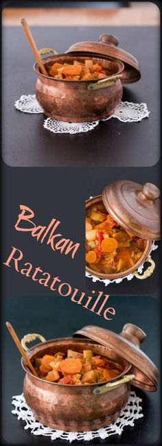 Balkan Ratatouille is a rich vegetarian dinner dish. Meat lovers are welcome to add grilled chicken or beef on the side.