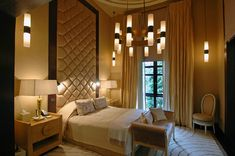 This bedroom from Deniot's project in New Delhi has a distinct 1940s Art Deco vibe to it. «design :: jean-louis deniot»