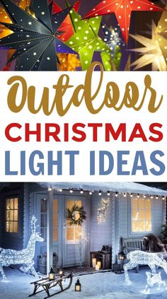 Birthday Gifts for Teenagers So today, I wanted to share with you some great Outdoor Christmas Light Ideas that will definitely inspire you! Hanging Christmas Lights, Silver Christmas Decorations, Christmas House Lights, Decorating With Christmas Lights, Christmas Yard, Holiday Lights, Christmas Crafts, Christmas Light Installation, Decor Scandinavian