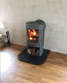Kernow Fires Contura 850 with rear flue wood burning stove installation in Cornwall.