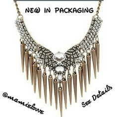 $10 Elegant Statement Necklace Coming Soon Price is $10 or 2 for $13   Gold-Plated Pendant Has 3 Crystals,Silver Rhinestones and Bronze Tassels for that Sassy Chic Look  Has Lobster Clasp for Closure Jewelry Necklaces