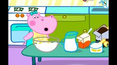 Hippo Pepa cooks. Playing the game Hippo Pepa. Games for kids (android)