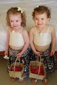 Cute Fijian flower girls