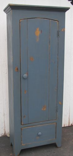 6 ft tall Blue Chimney Cupboard