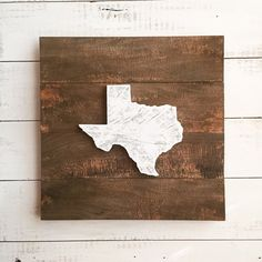 Rustic Reclaimed Wood State Love Sign Choose your by CleverGoose