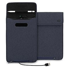 Amazon.com: iPad Pro 9.7 & Smart Keyboard Case / iPad Air 2 Case, CaseCrown Power Sleeve w/ Apple Pencil Holder & MFI Certified USB to Lightning Cable (Denim / Navy Blue) for Charging: Computers & Accessories