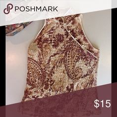 INC Sleeveless Top - Great Condition Fancy, Sleeveless INC top with Asian design. Pair it with the perfect purse also listed in my closet and get 20% off your purchase! INC International Concepts Tops