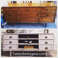 Before and after from Twisted Vintage Az