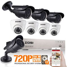 385.99$  Buy here - http://alispc.shopchina.info/go.php?t=1879588608 - ZOSI 8CH 720P DVR 1500TVL HD Security Camera System with 8 Indoor/Outdoor Waterproof 120ft Night Vision Security Cameras 1TB HDD 385.99$ #aliexpresschina