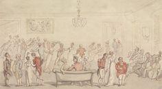 Elegant Company Dancing, undated, by Thomas Rowlandson. Yale Center for British Art, B1975.3.30