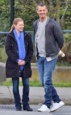 Joel Kinnaman Back to Work on The Killing, All Smiles With Pregnant Costar Mireille Enos After Olivia Munn Breakup