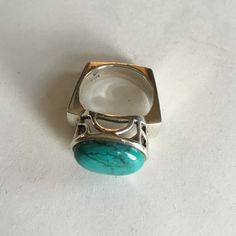 Turquoise and sterling silver Silpada ring GORGEOUS Silpada ring featuring a turquoise stone and filigree design.  This ring is a 7.5-8 and is in excellent condition. Silpada Jewelry Rings