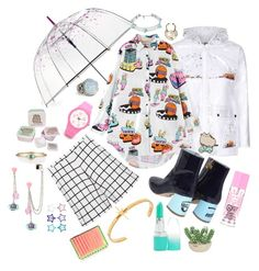 """""""stop in the rain"""" by blackpool ❤ liked on Polyvore featuring Topshop, ShedRain, Chiara Ferragni, Maria Francesca Pepe, Pusheen, Eshvi, Sydney Evan, The French Bee, Comme des Garçons and Sweet Romance"""