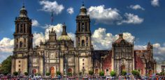 Metropolitan Cathedral. Catedral Metropolitana de la Ciudad de México. Built in 1813 in Mexico City, Mexico, on the site of an old Aztec temple.
