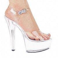 pumps: Ellie shoes inc. - Ellie Shoes Brook Pump Platform Clear Seven - 7 Clear High Heels, High Heels Stilettos, Sexy Heels, Sexy Sandals, Transparent Shoes, Stiletto Shoes, Shoes Heels, Hot Shoes, Transparente High Heels
