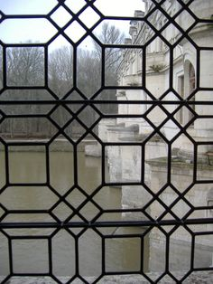 View from a window at the Chateau Chenonceau
