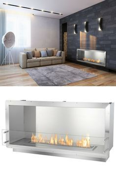 15 best fullview modern linear gas fireplace images linear rh pinterest com